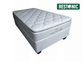 Restonic - California Medium Pillow Top - Single Bed Set [Extra Length]
