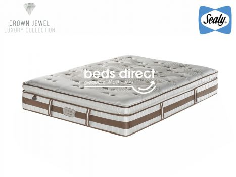 Sealy Posturepedic - Crown Jewel - Tranquil Plush - Queen Size Mattress [Extra Length]