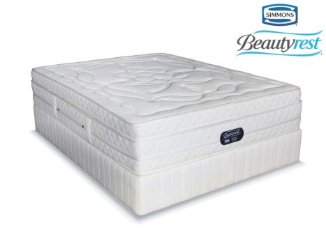 Simmons Beautyrest - Hybrid Plush Crescendo - Queen Size Bed Set [Extra Length]