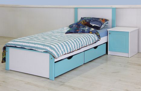Essentials - Jordan Bedroom Suite with Slide Out Drawers
