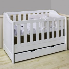 Venice Cot with Drawer - White (Jhb/Pta Only)