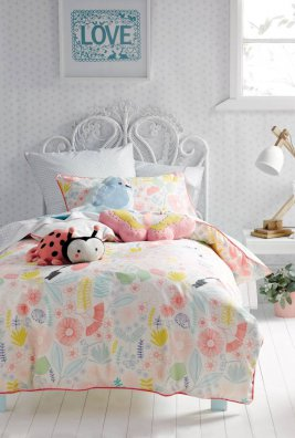 Duvet Cover Set - Flower Garden - Single