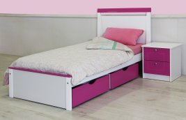 Essentials - Willo Bedroom Suite with Slide Out Drawers