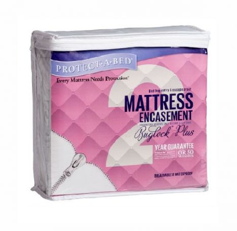 Protect-A-Bed - BugLock Plus - Waterproof Mattress Encasement - Three Quarter