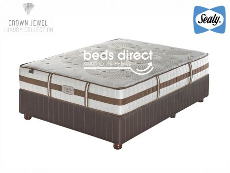 Sealy Posturepedic - Crown Jewel - Tranquil Medium - Queen Size Bed Set [Extra Length]