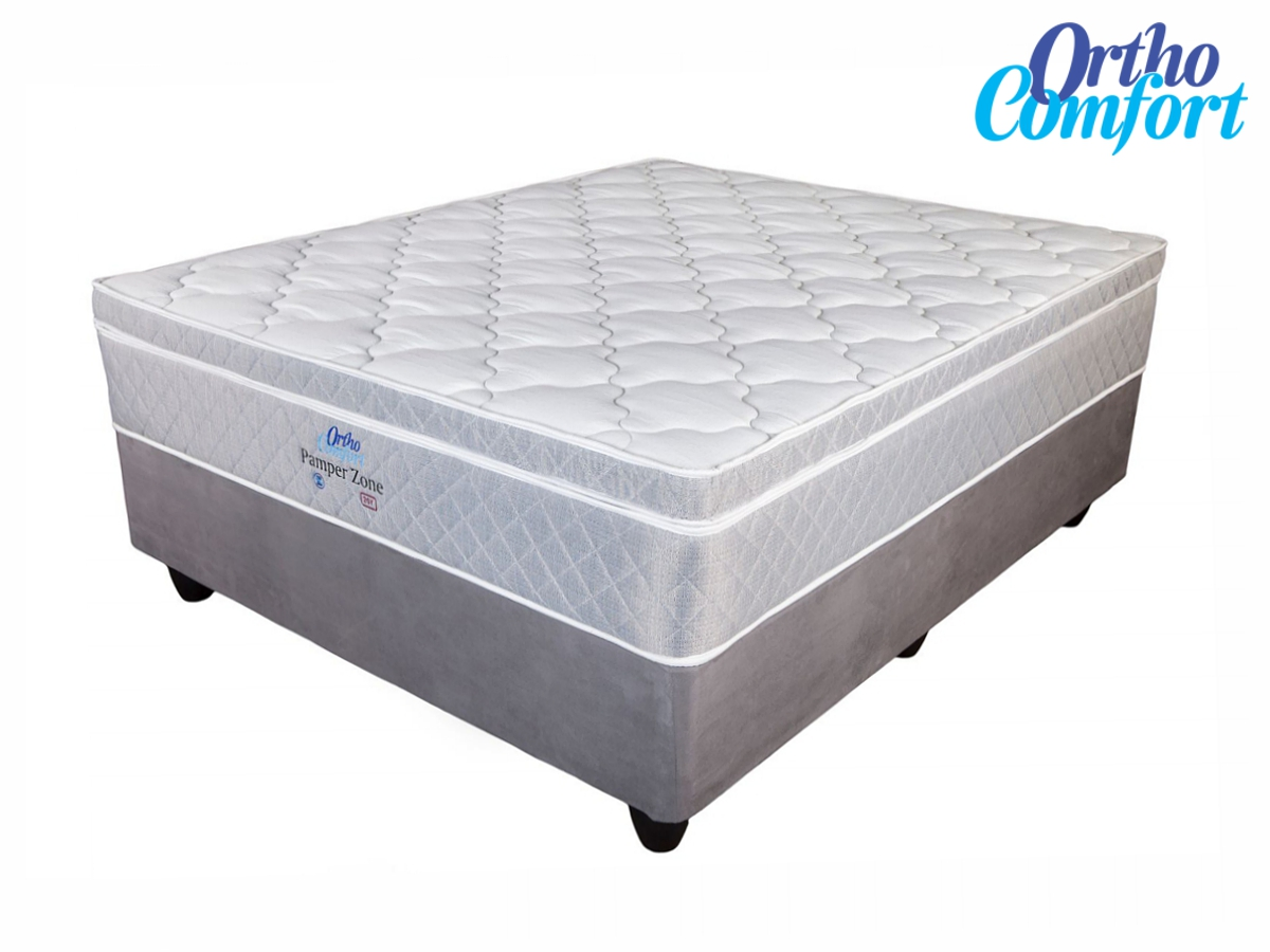 Ortho comfort pamper zone queen size bed set for Furniture zone beds